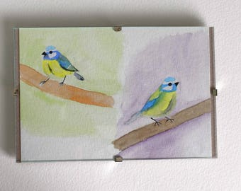Small watercolour birds original