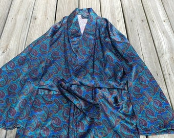 Men's  Robe Pure Silk  Imperial Paisley size Large