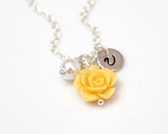Flower girl necklace, Kids Wedding Jewelry, Childrens Personalized Necklace, Childrens Jewelry, Wedding Gift, Flower Girl Gift