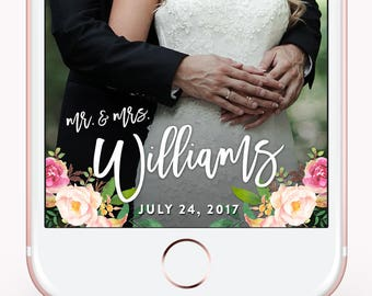 Wedding Snapchat GeoFilter, Snap Chat Floral Filter, Wedding Snapchat Filter, Custom Wedding Geofilter, Wedding Reception, Flower Pink Blush