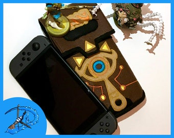 Sheikah Slate Nintendo Switch Case Legend of Zelda Breath of the Wild Gaming Accessory Embroidery Cosplay Prop