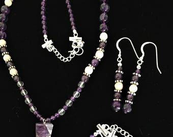 Amethyst Point Necklace Set