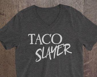 TACO SLAYER t-shirts, funny quotes, funny shirts, Food humor, Food shirt, Adult humor