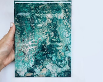Abstract Acrylic Pours, Painting, Abstract Art, Original Painting, Original Abstract, Fluid Art, Fluid Painting, Turquoise Art Painting