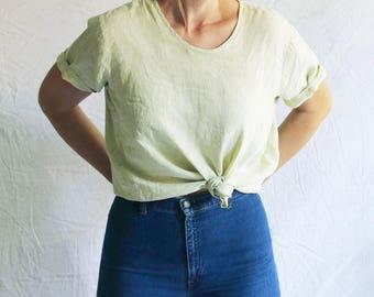 flax linen sage tshirt