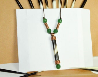 Porcupine Quill Necklace Leather