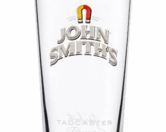 Engraved John Smiths Pint Glass. Personalised with your message. Great for Dad or a John Smiths lover!