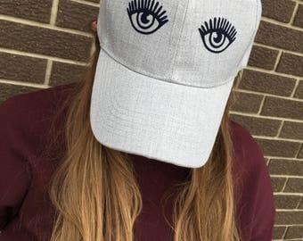 Lashes Custom Hat-New