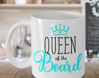 Snowboarding Gifts, Snowboarding Mug, Girl, Snowboarder Mug, Snow Sport Mug, Gift for Her, Snowboard, Snow Sports, Queen of the Board