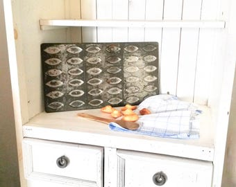 Large Madeleine Tray, 36 Slot Tray, Wabi Sabi Kitchen, French, Old Baking Tray, Cuisine Decor, Madeleine Slots