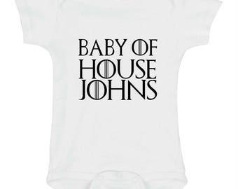 Game of Thrones Baby Onesie, Baby of House, Game of Thrones Bodysuit, Baby Shower Gift, Personalized Onesie, Newborn Gift, Baby Gift