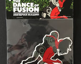 The Dance of Fusion Sticker by Alexander Fechner