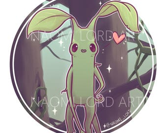 "Pickett Bowtruckle Sticker and/or Print (6x6"", 8x8"")"