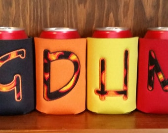 Can Cooler, Embroidered Can Cooler, Applique Can Cooler, Applique Cozie, Embroidered Cozie, Monogrammed Can Cooler, Monogrammed Cozie