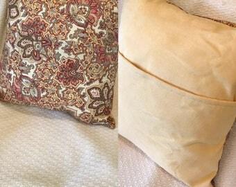 Paisley pillow cover, throw pillow, home decor pillow, 18 x 18 pillow, fall decor, fall pillow cover, earthtones pillow