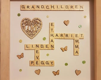 Personalised Family Scrabble Frames