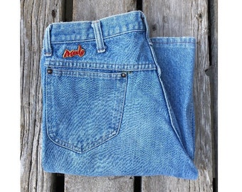 "29"" High Waist Light Wash Male Patch Vintage Flare Jeans"