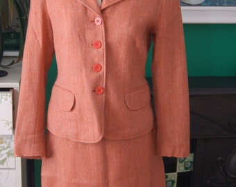 1950s tweed wool suit