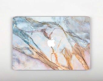 Blue Gold Marble Vinyl Macbook Air 13 Skin Laptop Case Decal Macbook Pro 13 Macbook Air Skin Laptop Pro Macbook 12 Skin Macbook Air 11 RS106