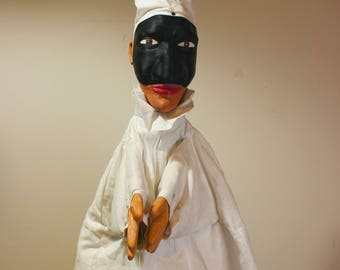 Pulcinella, glove hand puppet - Burattino a guanto