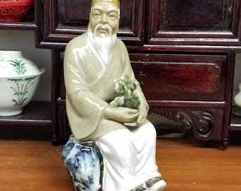 Vintage Chinese Ceramic Porcelain Figurine