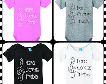 Musical Note, Here Comes Treble, Music Lover, Cute Birth Announcement, In The Band, Super Adorable Onesie