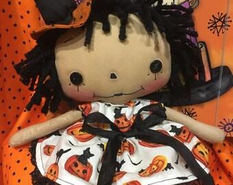 Raggedy Ann Witch Doll
