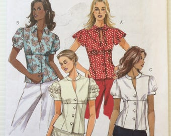 Butterick sewing pattern 4985 - Misses' top -  size 6-12