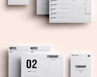 B6 TN Insert | B6 TN Printable | B6 TN Printable Insert | B6 Insert February