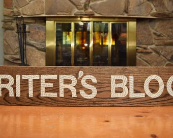 Writer's Block sign