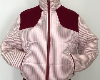 Vintage ski jacket / vintage puffer / puffer jacket / 80s puffer jacket / white puffer jacket / ski puffer jacket / 80s ski jacket