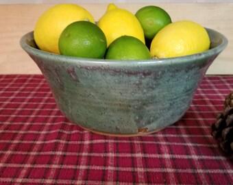 Spring green serving bowl