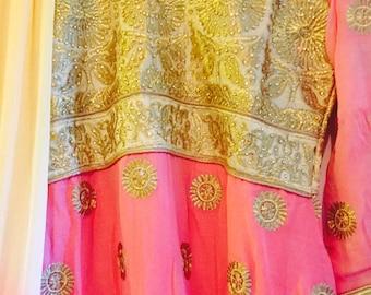 Pink chiffon Kameez
