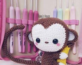 lovely crochet handmade monkey and banana