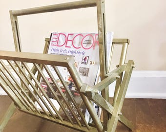 Brass Folding Magazine Rack