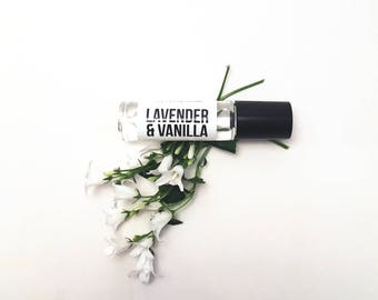Lavender Vanilla Perfume Oil - Roll-On Perfume - Roller Ball Perfume - Fragrance OIl - Vegan Perfume - Travel Size