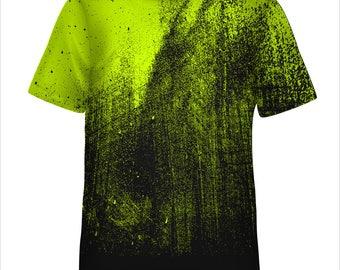 Grunge Distressed Splatter tee Custom Made Printed T Shirt