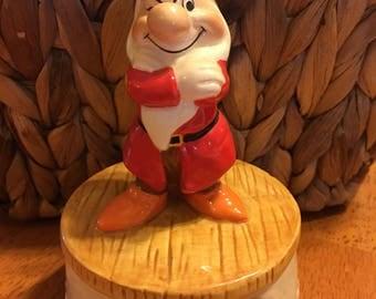 Grumpy Snow White and The Seven Dwarfs Musical Figurine