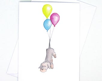 Dachshund birthday card / Dachshund long hair greeting card / Funny dog card / Dog birthday wishes / Small dog greeting cards / Dog lover