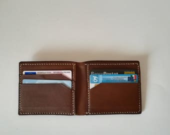 Leather man wallet, small wallet, leather money box, card holder, gift for him
