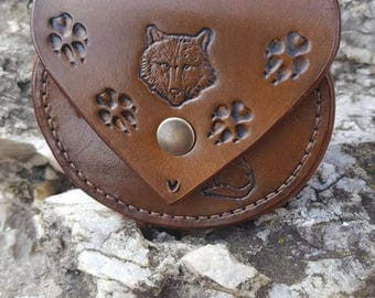 """The footsteps of the Wolf"" wallet."