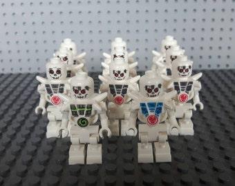 x11 Ninjago Skulkin Skeleton Army Minifigures - Custom Set - Lego Compatible - Halloween, Cake toppers, Party favours