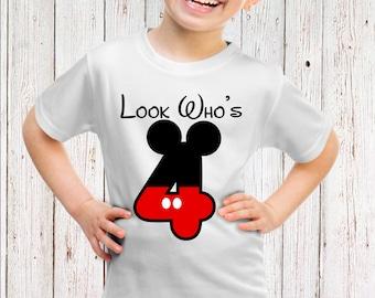 Disney's Mickey Mouse 4th Birthday - Iron on Transfer Printable