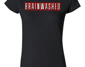 Book Lover T-Shirt   Brainwashed   Netflix   Mind Control   Womens   Cotton Blend   XS   S   M   L   XL   2XL
