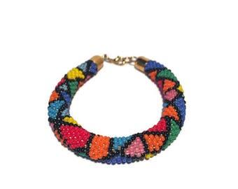 Multicolor Bracelet Roll On Bracelet Bead Bracelet Beaded Bracelet Handmade Bracelet Nepal Bracelet Style Bracelet Colorful Bracelet Beads