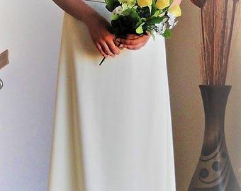 Bohemian wedding dress, skirt, top, belt, skirt, top, belt