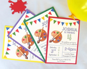 Personalised Art Party Invitations