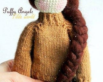 Crochet Tilda Doll Pattern Crochet Doll Amigurumi Doll Pattern Collectibies Home Decor Handmade Doll Stuffed Toy