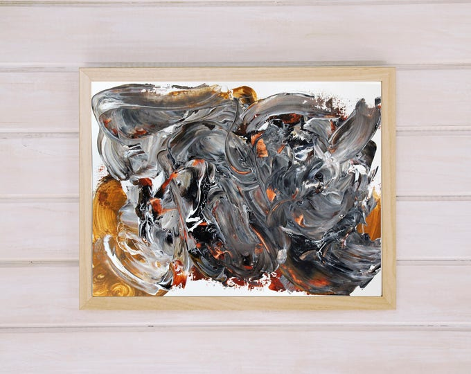 Disruption 35x25cm Original Abstract Painting