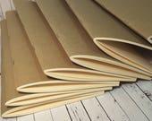 Wilddori 20 sheet (40 Page) Manilla Card Insert with Kraft Card Cover for Regular Travelers Notebook Journal  Midori Style Fauxdori